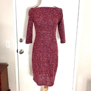 Jonathan Martin Marbled Knit Dress